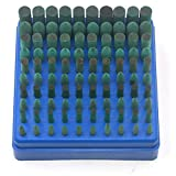 Oudtinx Polishing Accessories 100pcs Rubber Grinding Heads,3mm Shank Assorted Accessory, Mounted Point Wheel Head Kit for Dremel Polish Rotary Tools (Green)