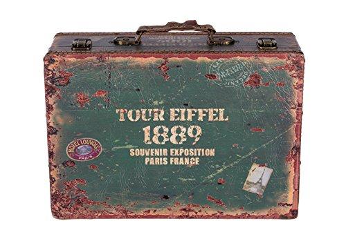 Sarah B Truhe Kiste KD 1281 Koffer, Kofferset, Holztruhe mit edlem Leder bezogen