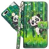 MRSTER Xiaomi Mi A1 Handytasche, Leder Schutzhülle Brieftasche Hülle Flip Hülle 3D Muster Cover mit Kartenfach Magnet Tasche Handyhüllen für Xiaomi Mi A1 / Xiaomi Mi 5X. YX 3D - Panda Bamboo