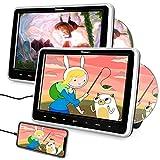 Naviskauto Lettore dvd da auto poggiatesta per bambini, con due cuffie, due schermi da 1...