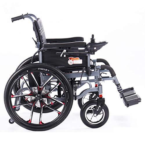 Silla eléctrica plegable de la silla de ruedas de la rueda de la rueda eléctrica...