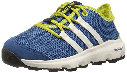 adidas outdoor Terrex Climacool Voyager Lace-up Shoe, Core Blue/Chalk White/Unity Lime, 1.5 M US Little Kid