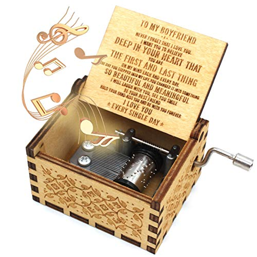 ukebobo Wooden Music Box- You are My Sunshine Music Box,Gifts for Boyfriend - 1 Set