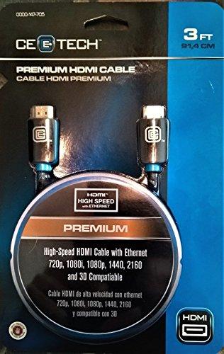 CE-Tech MC8202A0122018 9 Feet Premium HDMI Cable