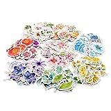 Molshine japanisches, bunt bedrucktes Klebeband, in verschieden Farben und Ausführungen erhältlich Flower Series