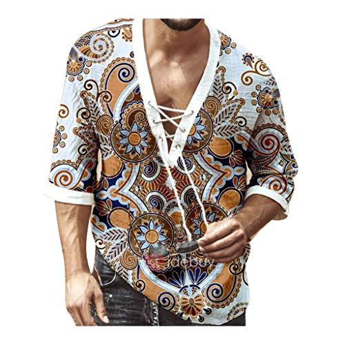 Yowablo Herren Poloshirt Polohemd Stehkragenshirt Kurzarmshirt Funktionsshirt Sportshirt Fitness Shirt Tee T-Shirt Sporthemd Trainingsshirt Sportswear T-Shirt (L,Mehrfarbig)
