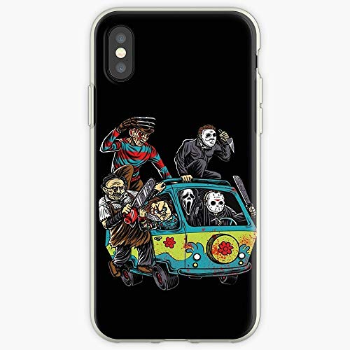 Scooby Horror Scary Monster Movie Chucky Leatherface Mask Costume Halloween Freddy Blood Chainsaw Phone Case for All iPhone, iPhone 11, iPhone XR, iPhone 7 Plus/8 Plus, Huawei, Samsung Galaxy