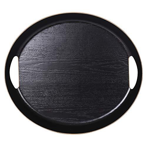 Table Passion - Plateau Ovale 46 x 41 cm noir