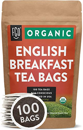 FGO Organic English Breakfast Black Tea Bags