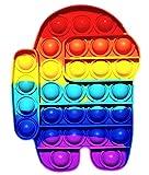 NF ROADTOLOVE Pop it Fidget Toy | Juguete Sensorial Antiestres para Niños y Adultos | Bubble Push Pop | Juguetes de Explotar Burbujas para Aliviar Ansiedad y Estrés | Pop it Among us L .