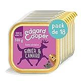 Edgard & Cooper - Caja con pátina para Perro Adulto sin Cereales, alimento Natural, 18 x 300 g, Gibier y Pato Fresco, alimentación Sana Sabrosa y equilibrada, proteínas