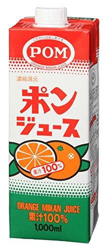 えひめ飲料 POM ポンジュース スクエア 1L×6本