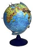 alldoro Globo terráqueo 3D Lexi 68600, diámetro de 25 cm, con aplicación de smartphone IQ Globe, globo terráqueo con luz LED sin cable, globo terráqueo infantil con relieve