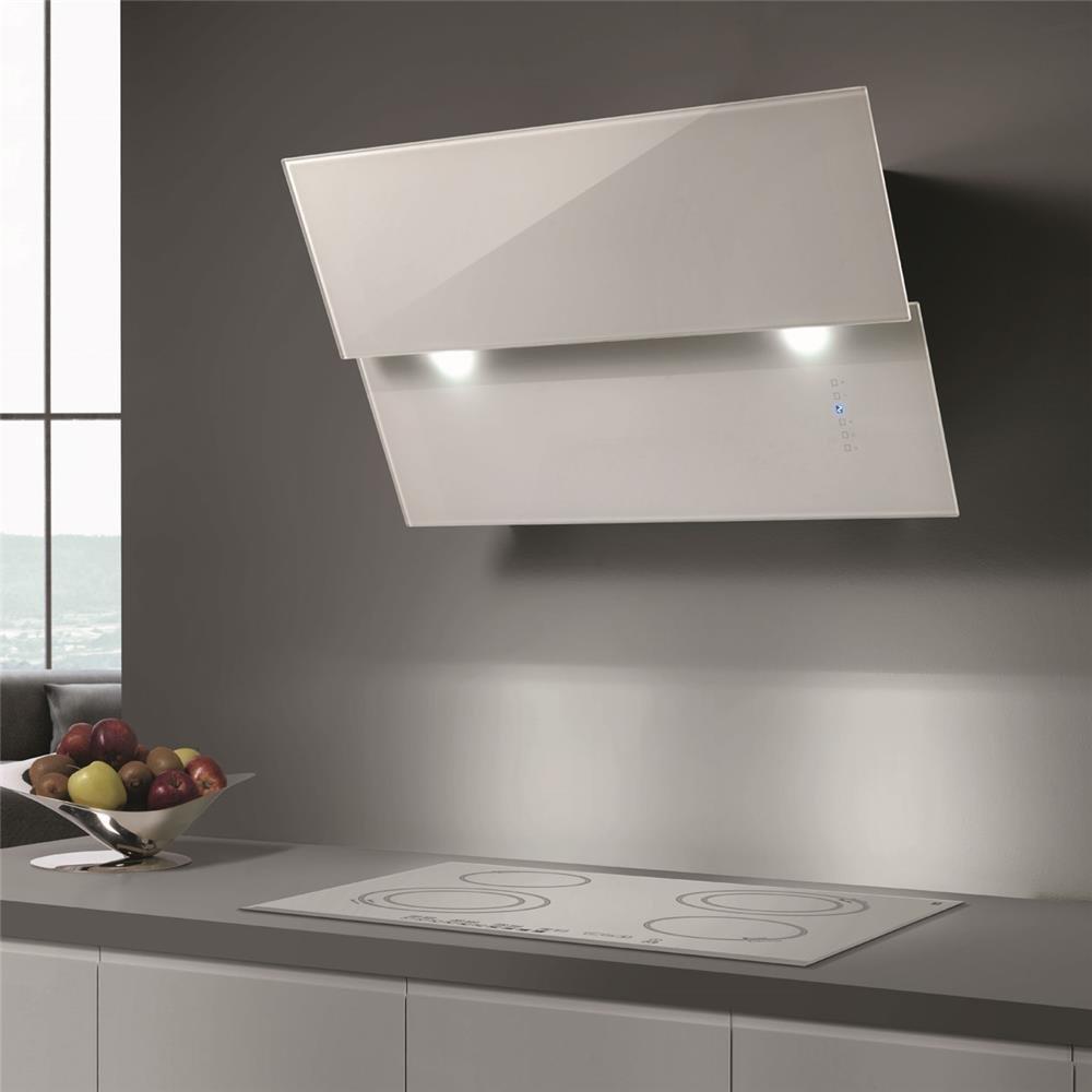 Campana Cocina airone pared Mars Cristal Blanco 80 cm: Amazon.es: Grandes electrodomésticos