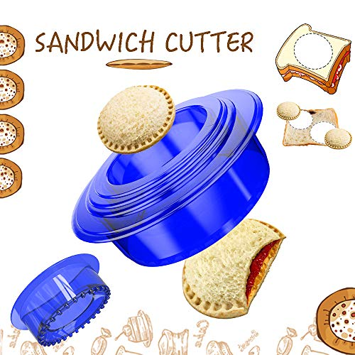 Tribe Glare Uncrustables Sandwich Maker  Sandwich Cutter for Kids  Sandwich Cutter and Sealer Have a Lovely Lunch Lunchable Box and Bento Box of Childrens Boys Girls  Blue