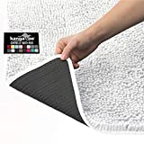 Kangaroo Plush Luxury Chenille Bath Rug, 30x20, Extra Soft and Absorbent Shaggy Bathroom Mat Rugs, Washable, Strong Underside, Plush Carpet Mats for Kids Tub, Shower, Bathtub and Bath Room, White