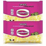 Inodorina Refresh - 40 Salviette Detergenti - Profumazione Citronella 2 Confezioni