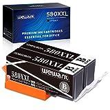 Wewant PGI-580 PGBK Cartuccia d'Inchiostro Compatibile per Canon 580 XXL per Canon Pixma TR7550 TR8550 TS705 TS6150 TS6151 TS6250 TS6350 TS8150 TS8151 TS8250 TS8251 TS8350 TS9550 TS9551(2 Nero)