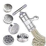 WYCJJ Macchina per Pasta Manuale Pressa per Pasta Pressa per manovella Frutta Spremiagrumi Pentole con 5 stampi per pressatura Preparazione di Utensili da Cucina per Spaghetti