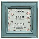 Hampton Marcos Paloma Cuadrado Marco de Fotos, Madera, Luz Azul, 14,5x 14,5x 2,5cm