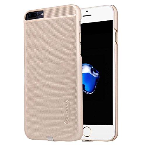 HUANRUOBAIHUO-PHONE CASE Caso Diseño de Funda mágica 2 en 1 para Caja de PC Antideslizante para iPhone 7 Plus con Receptor de Carga inalámbrico estándar QI Carcasa del teléfono (Color : Oro)
