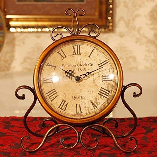 XIN Tafelklok Amerikaanse Retro Iron Horloge Meubels Creatieve Thuis Woonkamer Bureau Tafelklok Barok Klokken