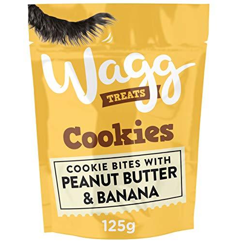 Wagg Burro di Arachidi e Banana Biscotti per cani, 125 g, confezione da 7