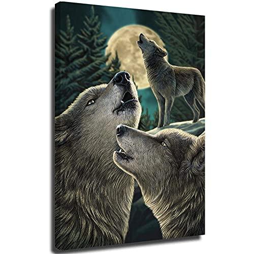 SSKJTC Póster moderno con diseño de lobo de animales salvajes, 50 x 75 cm