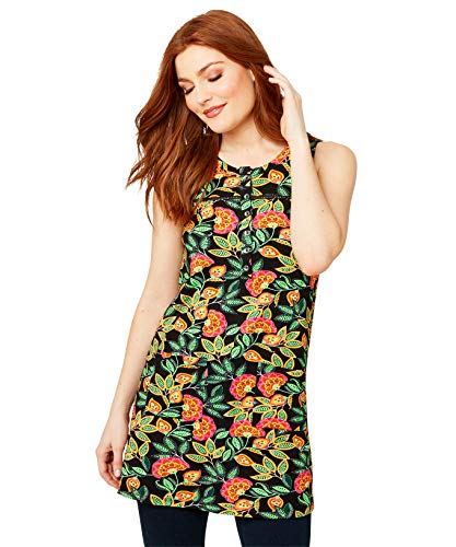 Joe Browns Vrouwen Tuniek Shirt Bright Florals Sleeveless Summer Tunic