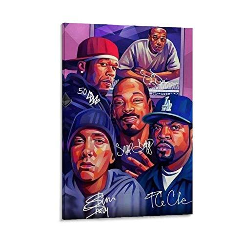 50 Cent und Eminem Leinwand-Kunst-Poster und Wandkunstdruck, modernes Familienschlafzimmerdekor, 30 x 45 cm