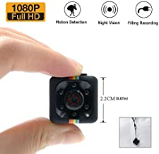 Mini Spy Hidden Camera, 1080P Full HD Smallest Body Camera with Night Vision and Motion Detection, Wireless Nanny Cop Cam for Home Security, Car, Drone, Office and Outdoor Use
