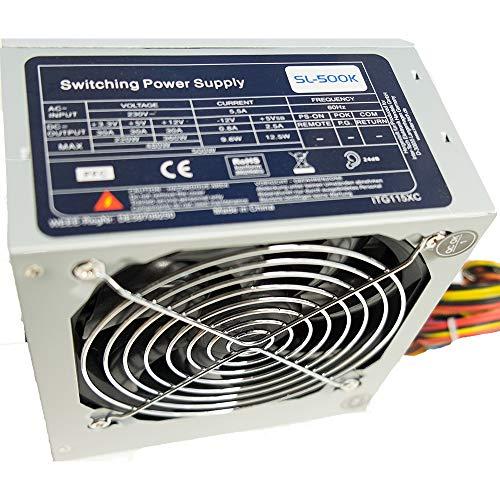Emobil 500 Watt ATX PC Computer Netzteil ideal für Home/Office / Internet/PC Bulk