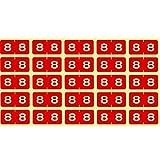 リヒトラブ カラーナンバーラベルM 1袋=250片入 HK7753-8