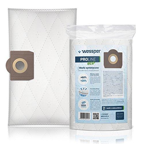 Wessper® Sacs d'aspirateur pour Thomas Power Pack 1620 C (2 pièces, synthétique)