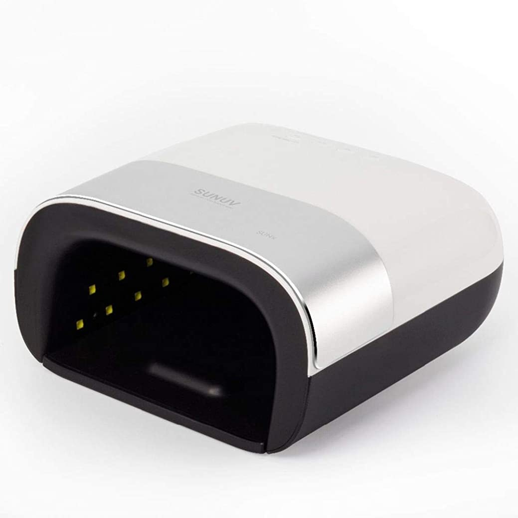 ドレイン固執レモンネイルドライヤーネイルドライヤースマート2.0 48W UV LEDランプネイルスマートタイマーメモリ見えないデジタルタイマーディスプレイネイル乾燥機、画像としての色
