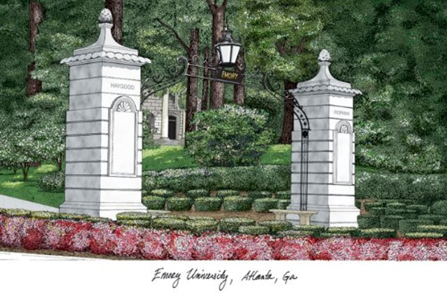 Campus Images Emory University Lithographic Print