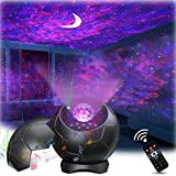 Galaxy Light Projector for Bedroom, Star Projector with Bluetooth Speaker & Voice Control for Game Room/Home Decor, Night Light Starry Projector with Remote Control and Timer Lamps