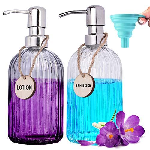 RFAQK Dish and Hand Soap Dispenser Set (2 Bottles & Funnel) for...