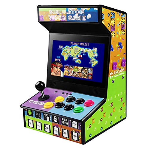 DOYO Máquina Arcade Juegos Consola Arcade Retro y Recargable, Incorporados 88 Juegos, Pantalla LCD a Color de 10.1 Pulgadas