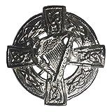 Tartanista uomo - Spillone per stola e kilt con arpa irlandese e motivo celtico