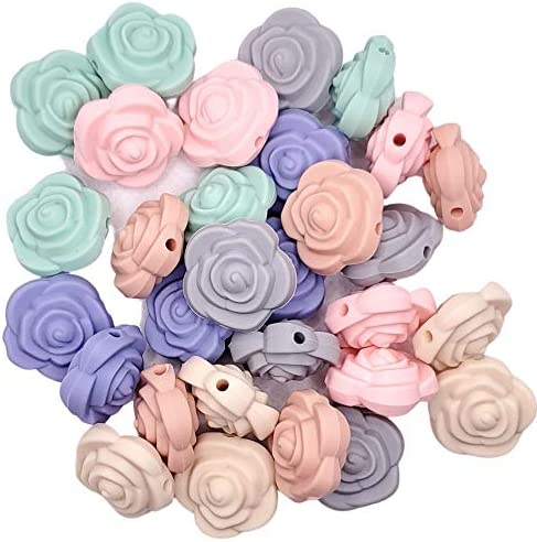Flower Silicone Beads Jewelry Necklace Bracelet Making Kit Food Grade BPA Free Arts and Crafts product image