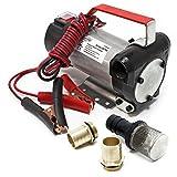 Pompa Wiltec bio autoaspirante per olio e gasolio 12V / 160W 40 l/min Pompa portatile da travaso