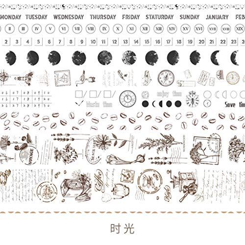 Hfbwjfhgdj 10 unidades de cinta adhesiva de papel japonesa con diseño de flor de animal d