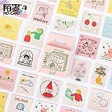BLOUR 46 Stück/Box Mein AbenteuerlebenDekoratives Briefpapier Mini Stickers Set Scrapbooking DIY Tagebuch Album Stick Lable
