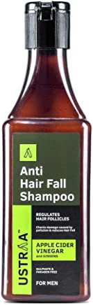 Ustraa Anti Hair Fall with Apple Cider Vinegar No Parabens and Sulphate Shampoo, 200ml