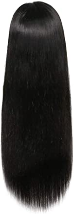 Women Long Wigs, 26inch Silky Straight Lace Front Wig Black Middler Party Brazilian Human Hair Shipping from USA