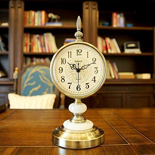 Horloge de table Néo-classique maison salon étude chambre muet horloge de table ornements de style européen américaine bureau horloge Pendules et horloges