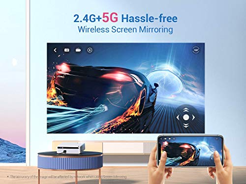 """VANKYO Performance V630W Native 1080P Projector, Full HD WiFi Projector, Supports 4K & 300"""" Display, 5G Synchronize Smartphone Screen & ±50° Keystone Correction, Compatible w/ iPhone, TV Stick, PS5"""