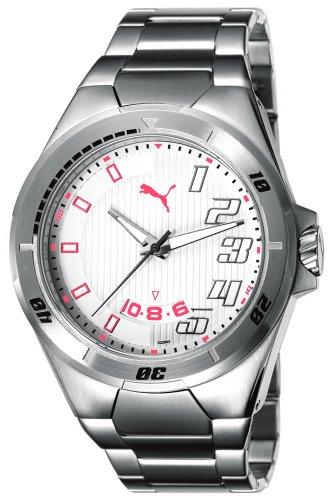 Puma Time Countdown Metal Silver PU102261002 - Orologio da polso da uomo, cinturino in acciaio inox colore argento