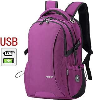 Laptop Backpack Men's USB Charger Port, Business Travel Multifunction Smart Waterproof Backpack Student